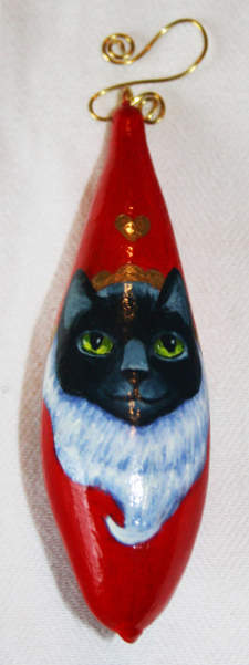 Red Santa Cat Christmas ornament
